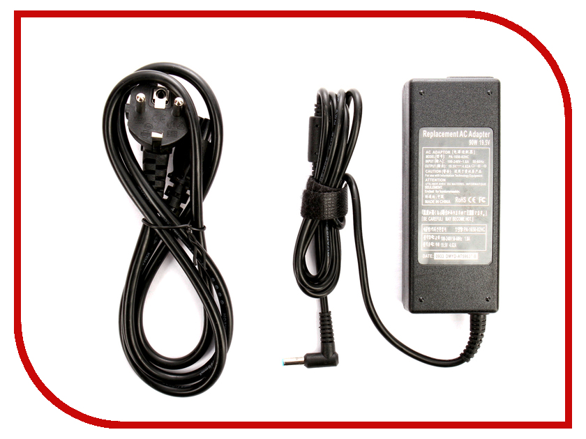 Блок питания 4parts LAC-HP10 HP 19.5V 4.62A (4.5x3.0mm с иглой) 90W блок питания 4parts lac le03 lenovo 20v 4 5a 5 5x2 5mm 90w