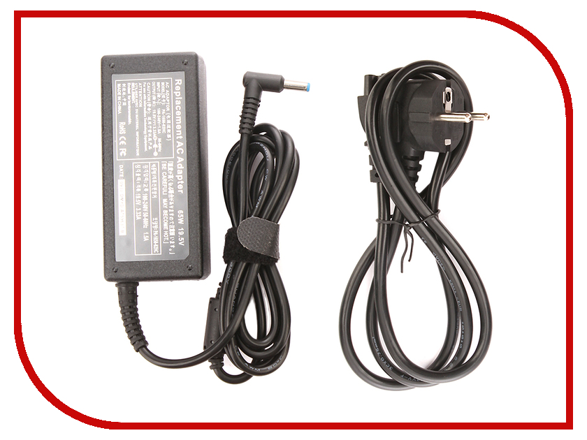 Блок питания 4parts LAC-HP09 HP 19.5V 3.33A (4.5x3.0mm с иглой) 65W блок питания 4parts lac hp07 hp 19v 4 74a 7 4x5 0mm с иглой 90w