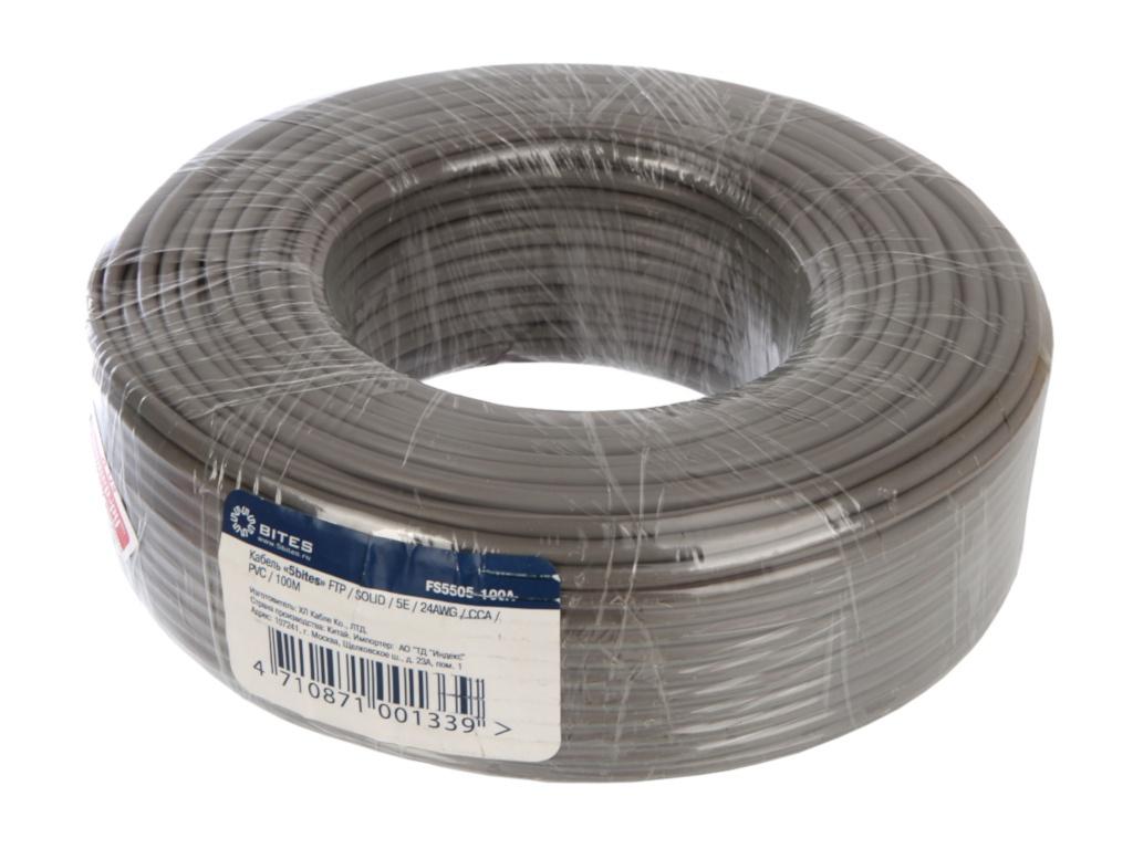 Сетевой кабель 5bites FTP / SOLID 5E 24AWG CCA/ PVC 100M FS5505-100A