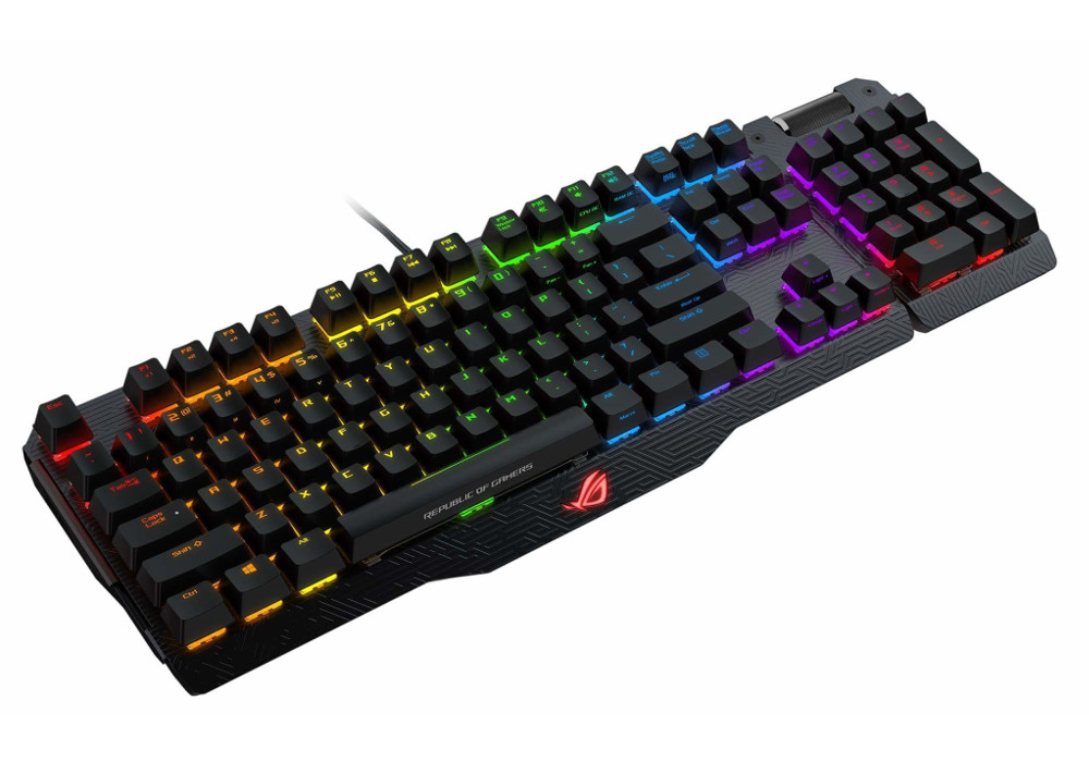 Клавиатура ASUS ROG Claymore Brown Switches Black USB 90MP00E1-B0RA00 клавиатура проводная asus rog claymore core brown switches usb черный 90mp00i1 bora00