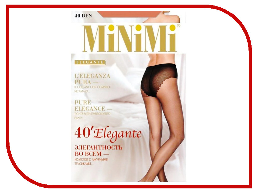 Колготки MiNiMi Elegante размер 3 плотность 40 Den Daino колготки minimi elegante размер 4 плотность 20 den daino