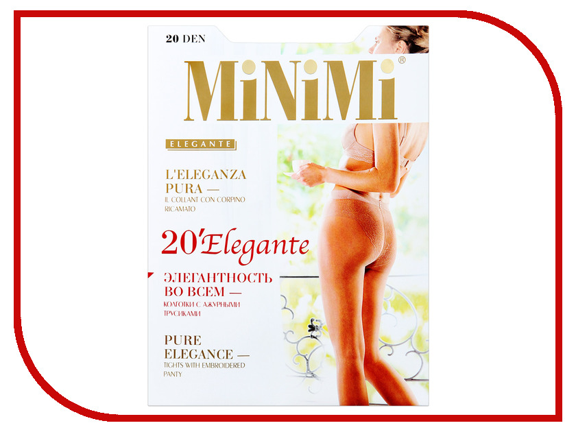 Колготки MiNiMi Elegante размер 3 плотность 20 Den Daino колготки minimi elegante размер 4 плотность 20 den daino