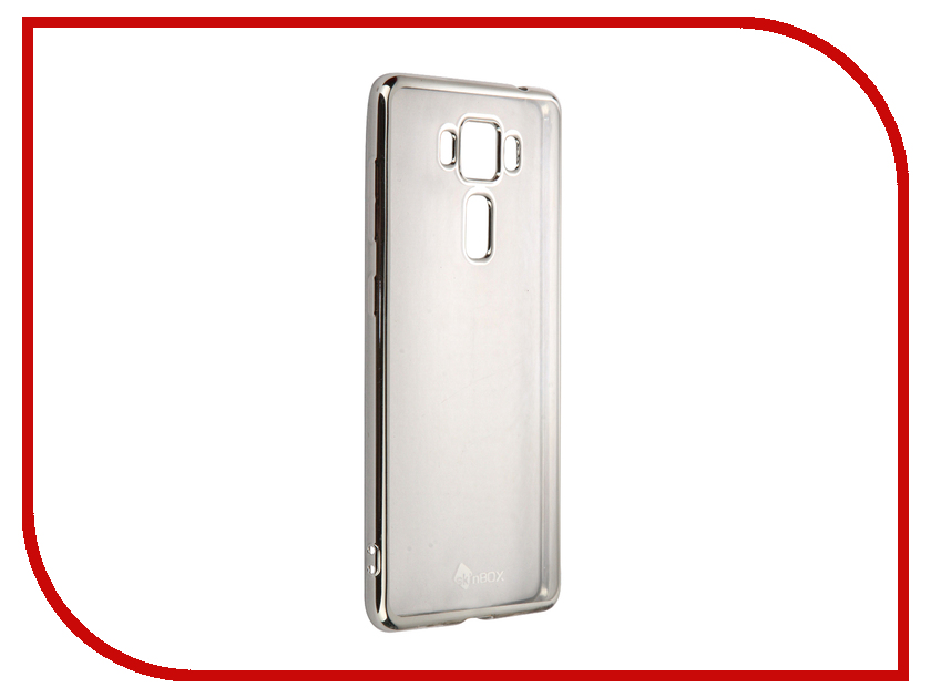 Аксессуар Чехол-накладка ASUS Zenfone 3 Delux ZS550KL SkinBox Silicone Chrome Border 4People Silver T-S-AZS550KL-008