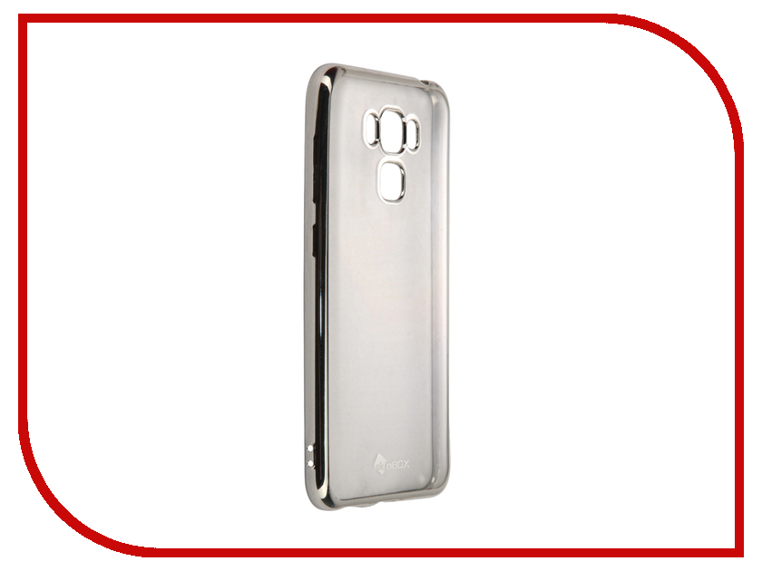Аксессуар Чехол-накладка ASUS Zenfone 3 Max ZC553KL SkinBox Silicone Chrome Border 4People Silver T-S-AZC553KL-008 аксессуар чехол asus zenfone 3 max zc553kl zibelino classico black zcl asu zc553kl blk