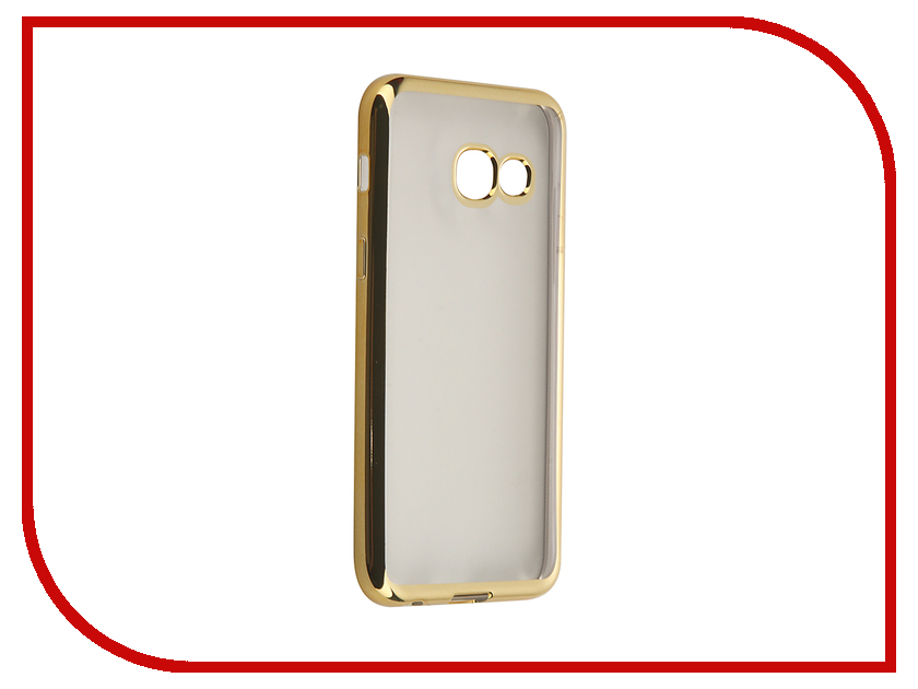 Аксессуар Чехол-накладка Samsung Galaxy A3 (2017) SkinBox Silicone Chrome Border 4People Gold T-S-SGA32017-008 аксессуар чехол накладка samsung galaxy j3 2016 skinbox silicone chrome border 4people dark silver t s sgj32016 008