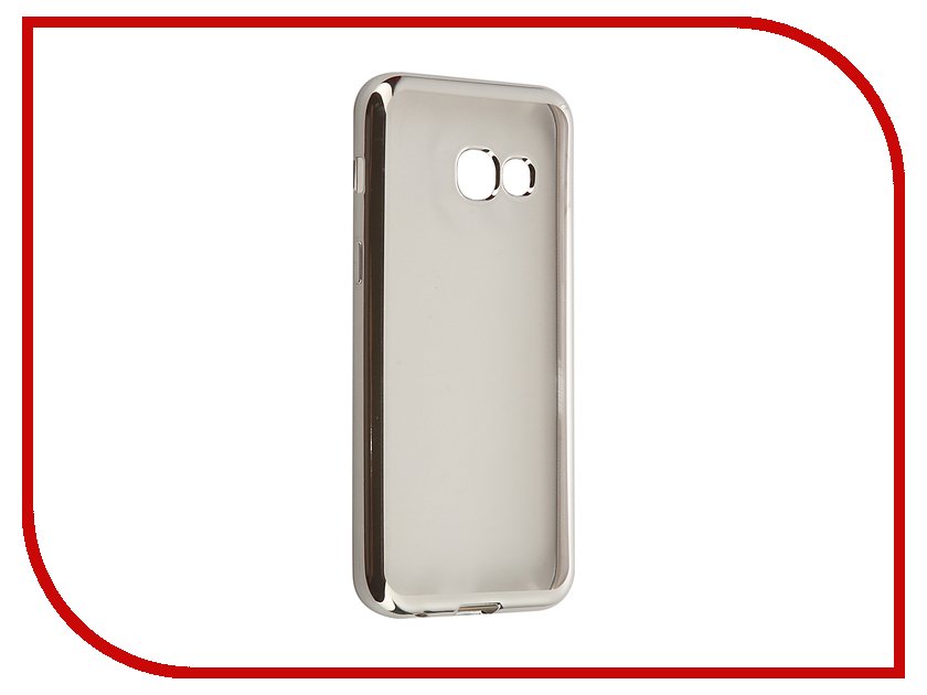Аксессуар Чехол-накладка Samsung Galaxy A3 (2017) SkinBox Silicone Chrome Border 4People Silver T-S-SGA32017-008 аксессуар чехол samsung galaxy a3 2017 cojess tpu 0 3mm transparent