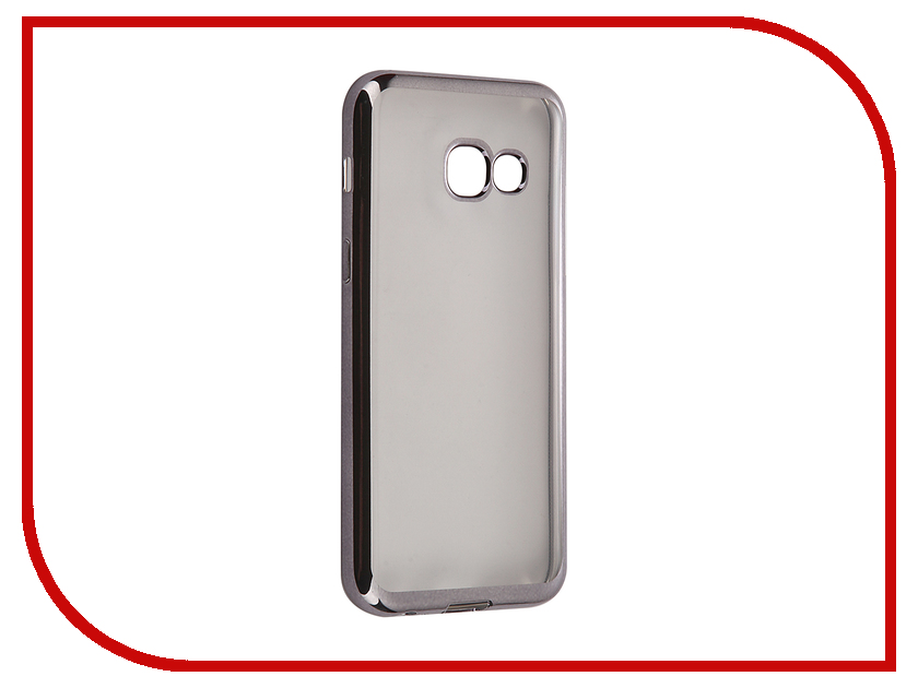 Аксессуар Чехол-накладка Samsung Galaxy A3 (2017) SkinBox Silicone Chrome Border 4People Dark-Silver T-S-SGA32017-008 аксессуар чехол накладка samsung galaxy j3 2016 skinbox silicone chrome border 4people dark silver t s sgj32016 008