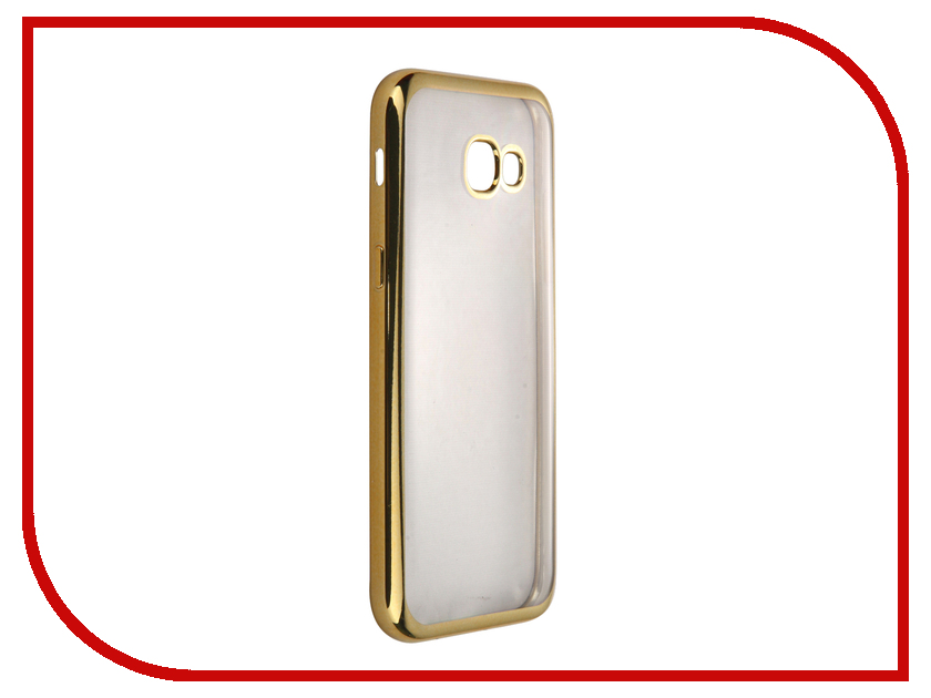 Аксессуар Чехол-накладка Samsung Galaxy A5 (2017) SkinBox Silicone Chrome Border 4People Gold T-S-SGA52017-008 аксессуар чехол накладка samsung galaxy j1 mini 2016 skinbox silicone chrome border 4people gold t s sgj1m2016 008