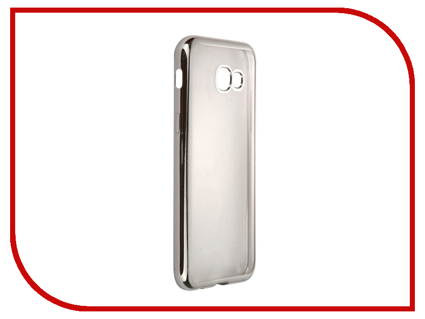 Аксессуар Чехол-накладка Samsung Galaxy A5 (2017) SkinBox Silicone Chrome Border 4People Silver T-S-SGA52017-008 аксессуар чехол накладка samsung galaxy j3 2016 skinbox silicone chrome border 4people dark silver t s sgj32016 008