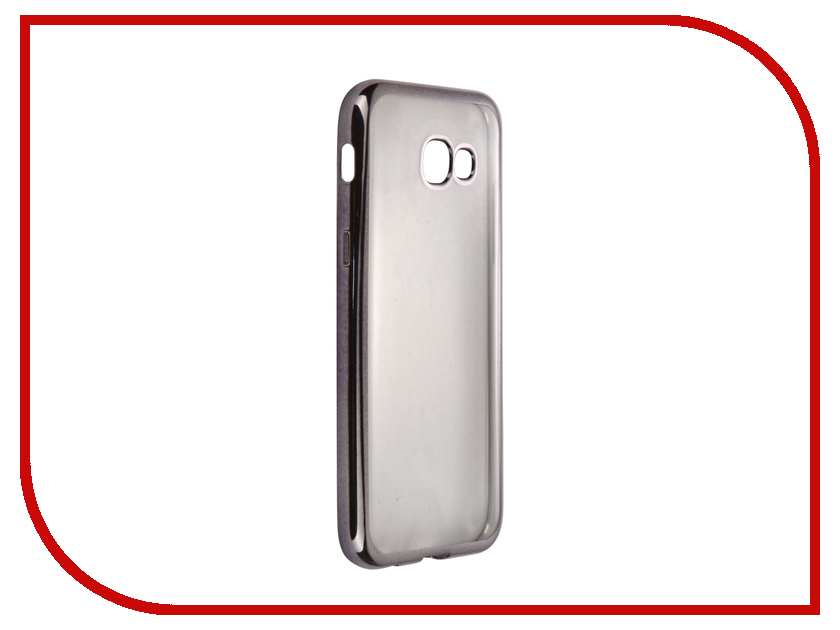 Аксессуар Чехол-накладка Samsung Galaxy A5 (2017) SkinBox Silicone Chrome Border 4People Dark-Silver T-S-SGA52017-008 аксессуар чехол накладка samsung galaxy j3 2016 skinbox silicone chrome border 4people dark silver t s sgj32016 008