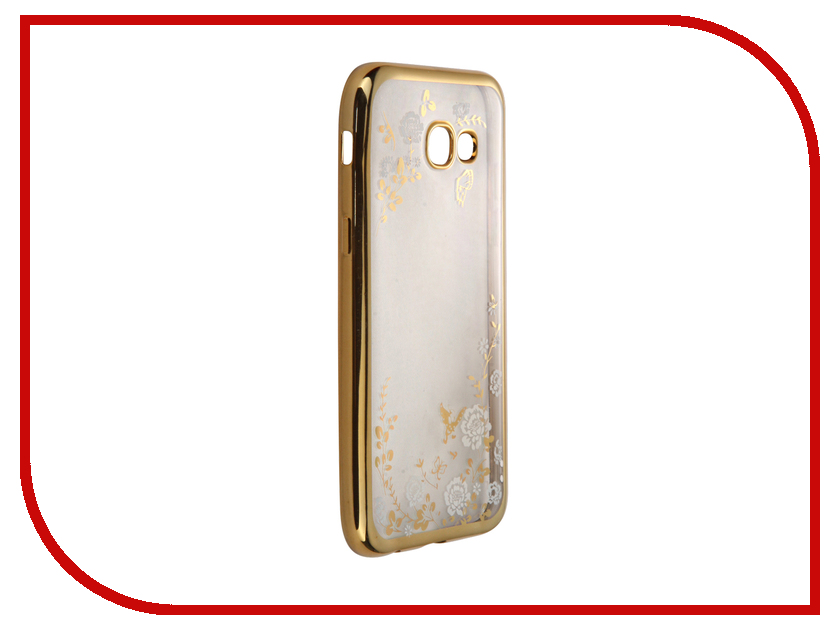 все цены на  Аксессуар Чехол-накладка Samsung Galaxy A5 (2017) SkinBox Silicone Chrome Border Color Style 1 4People White T-S-SGA52017-009  онлайн