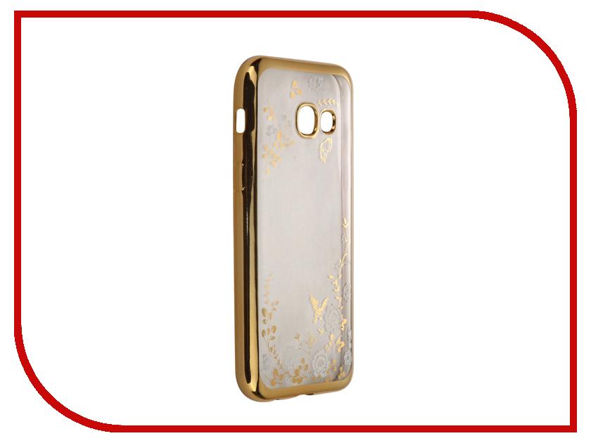 Аксессуар Чехол-накладка Samsung Galaxy A3 (2017) SkinBox Silicone Chrome Border Color Style 1 4People White T-S-SGA32017-009 аксессуар чехол samsung galaxy a3 2017 cojess tpu 0 3mm transparent