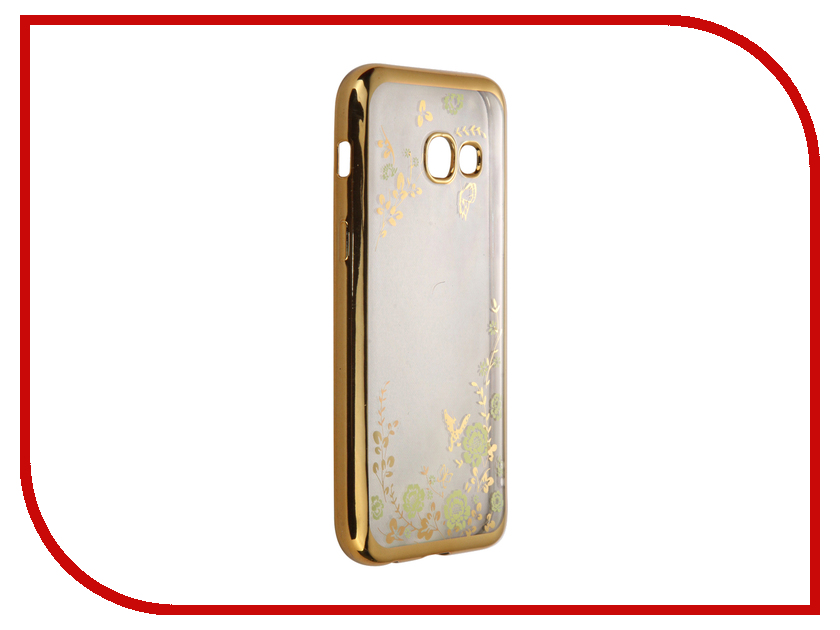 Аксессуар Чехол-накладка Samsung Galaxy A3 (2017) SkinBox Silicone Chrome Border Color Style 1 4People Green T-S-SGA32017-009 аксессуар чехол samsung galaxy a3 2017 cojess tpu 0 3mm transparent