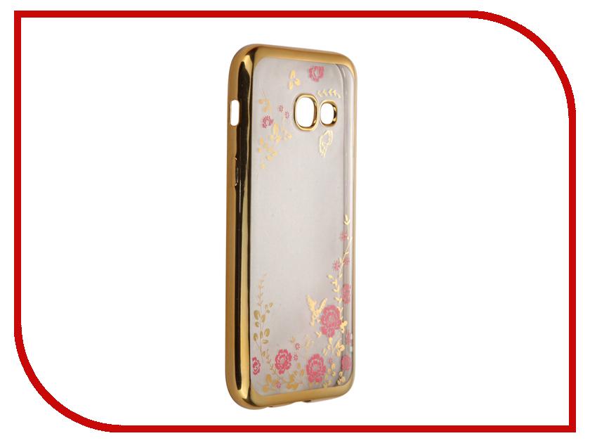 Аксессуар Чехол-накладка Samsung Galaxy A3 (2017) SkinBox Silicone Chrome Border Color Style 1 4People Pink T-S-SGA32017-009 аксессуар чехол накладка samsung galaxy a3 2017 skinbox silicone chrome border color style 1 4people pink t s sga32017 009