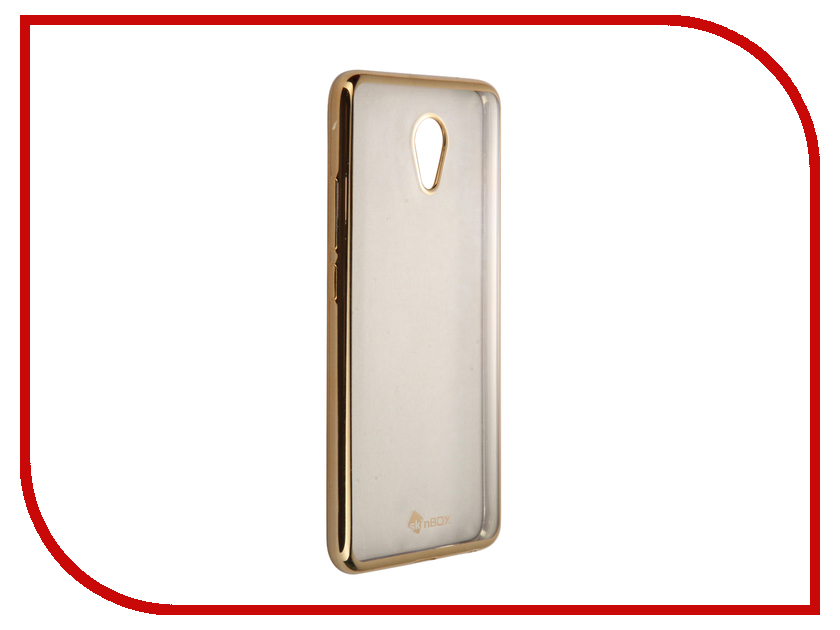 Аксессуар Чехол-накладка Meizu M5 Note SkinBox Silicone Chrome Border 4People Gold T-S-MM5N-008 аксессуар чехол meizu pro 6 skinbox silicone chrome border 4people silver