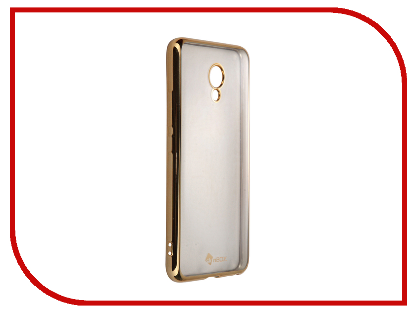 Аксессуар Чехол-накладка Meizu M5 SkinBox Silicone Chrome Border 4People Gold T-S-MM5-008
