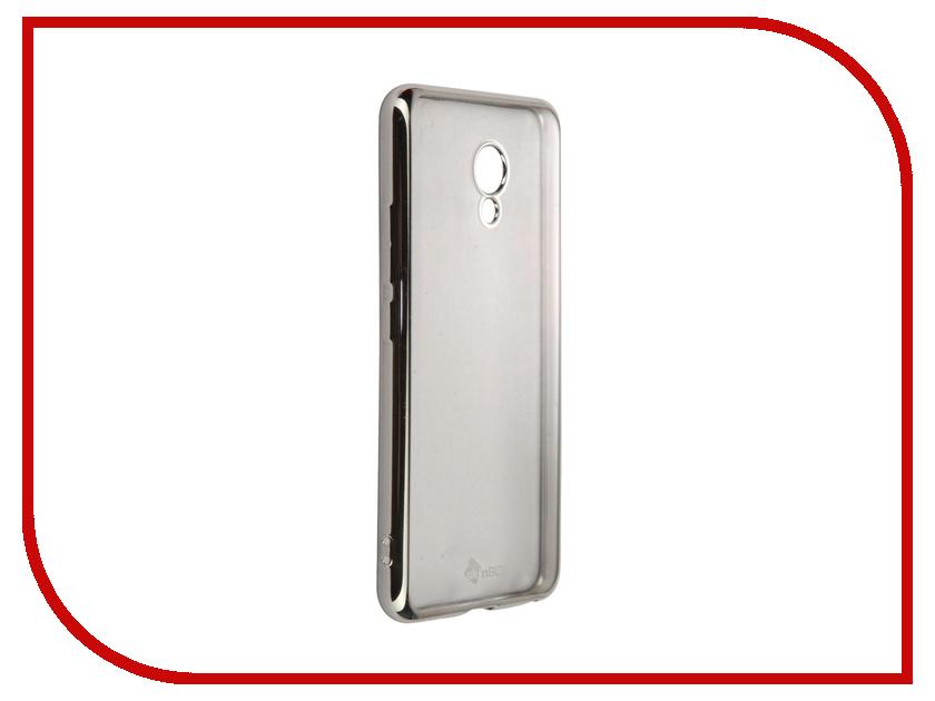 Аксессуар Чехол-накладка Meizu M5 SkinBox Silicone Chrome Border 4People Silver T-S-MM5-008