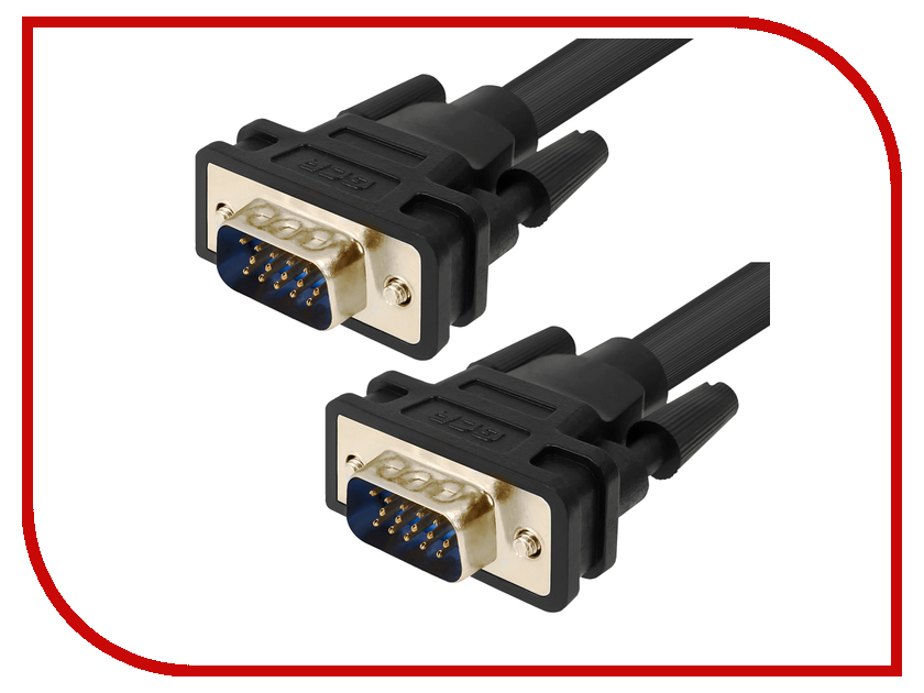 Аксессуар Greenconnect Premium SVGA 15M-15M 1m Black GCR-VM2VM2-1.0m