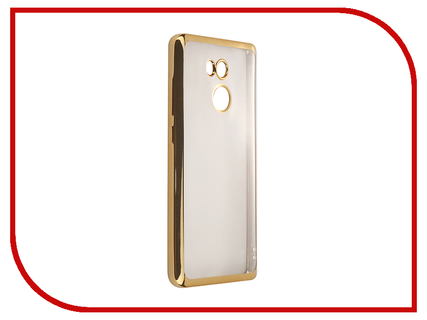 Аксессуар Чехол-накладка Xiaomi RedMi 4 Pro SkinBox Silicone Chrome Border 4People Gold T-S-XR4P-008 стоимость