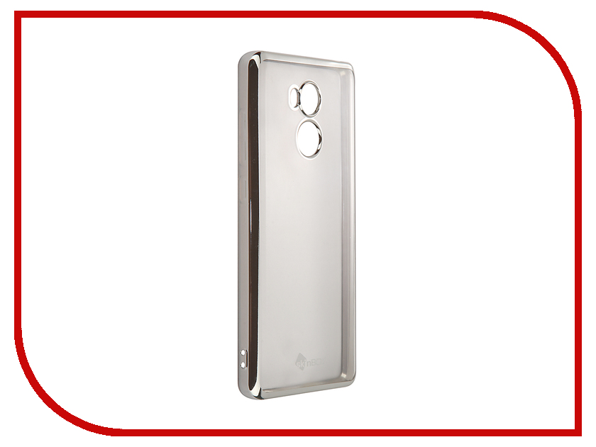 Аксессуар Чехол-накладка Xiaomi RedMi 4 Pro SkinBox Silicone Chrome Border 4People Silver T-S-XR4P-008 аксессуар чехол meizu pro 6 skinbox silicone chrome border 4people silver