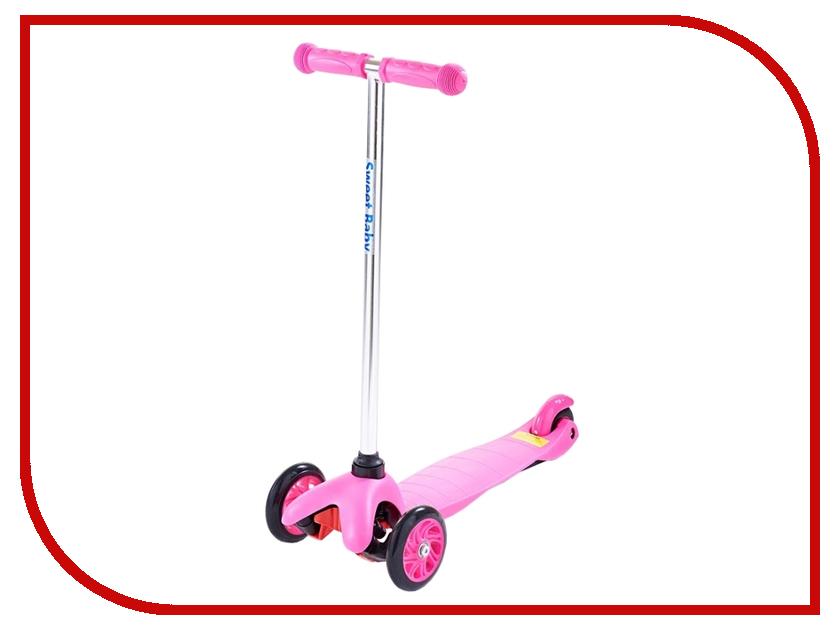 Самокат Sweet Baby Bright Pink 314063 наматрасники sweet baby наматрасник sb k012 овальный
