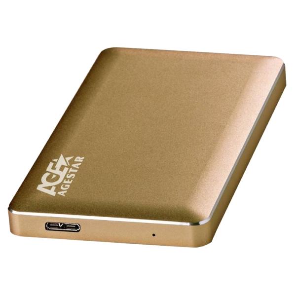Внешний корпус для HDD AgeStar 3UB2A16 Aluminium Gold