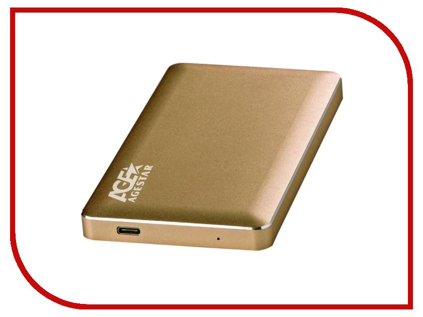 все цены на Аксессуар Внешний корпус для HDD AgeStar 3UB2A16C Aluminium Gold онлайн