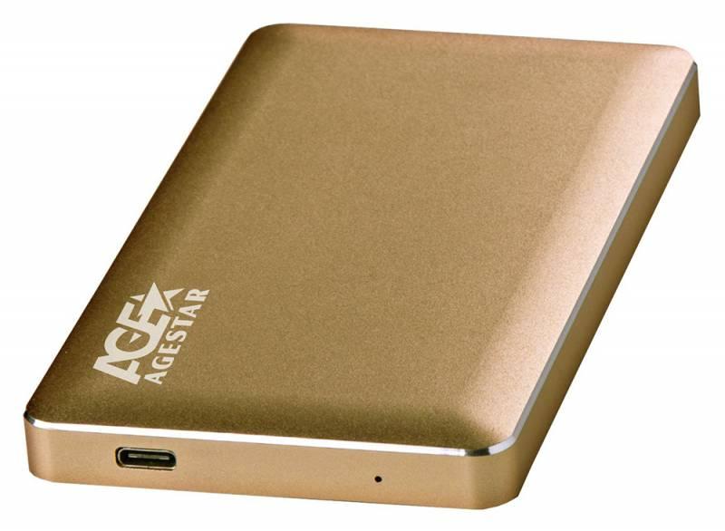 Внешний корпус для HDD AgeStar 31UB2A16C Aluminium Gold