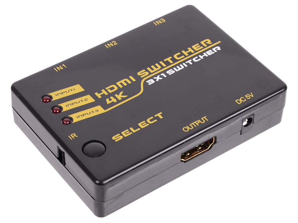Сплиттер Orient HDMI 4K Switch HS0301H