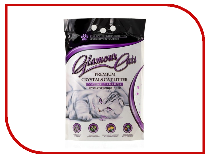 Наполнитель Glamour Cats Лаванда 3.8L
