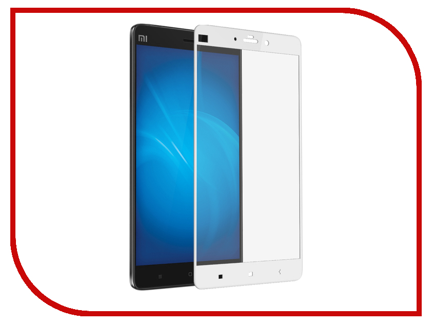 Аксессуар Закаленное стекло Xiaomi Mi Note DF Fullscreen xiColor-13 White аксессуар df 30pin usb df imagnet 01 white