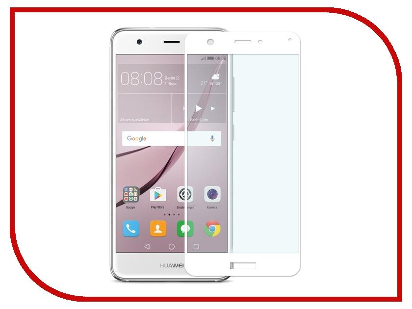 Аксессуар Закаленное стекло Huawei Nova DF Fullscreen hwColor-04 White аксессуар df 30pin usb df imagnet 01 white