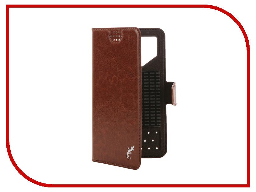 Аксессуар Чехол G-Case Slim Premium 4.2-5.0-inch универсальный Brown GG-771