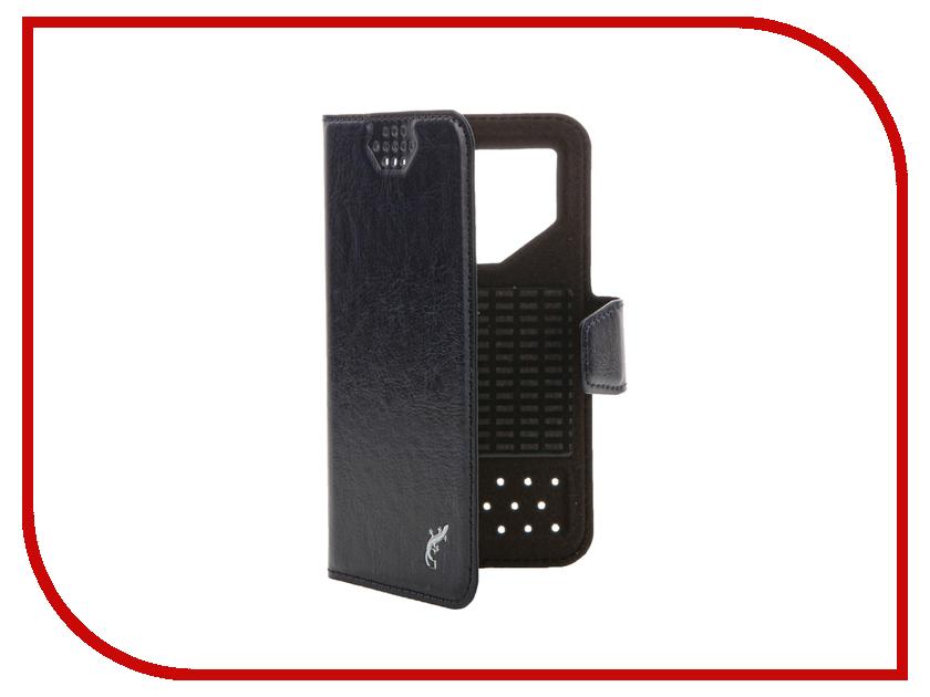 Аксессуар Чехол G-Case Slim Premium 3.5-4.2-inch универсальный Dark Blue GG-766 g case slim premium чехол для iphone 6 plus dark blue