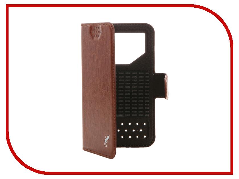 Аксессуар Чехол G-Case Slim Premium 3.5-4.2-inch универсальный Brown GG-760