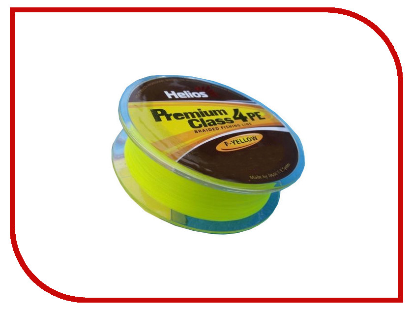 Шнур плетёный Helios Premium Class 4 PE Braid 0.23mm 135m Fluorescent Yellow HS-4PFY-23/135 Y