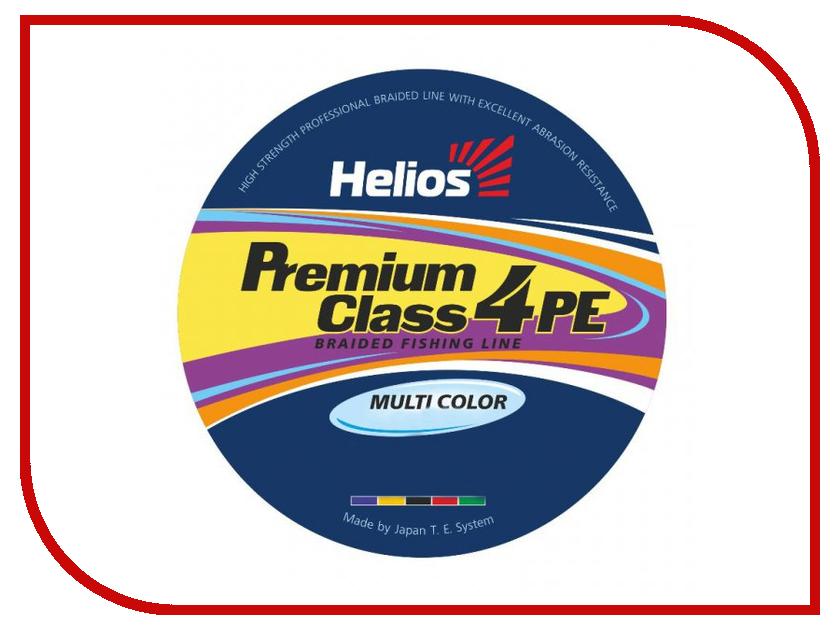 Шнур плетёный Helios Premium Class 4 PE Braid 0.18mm 135m Multicolor HS-4PFM-18/135 M helios hs 110d