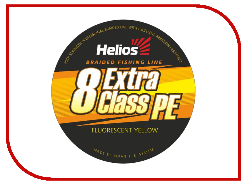 Шнур плетёный Helios Extra Class 8 PE Braid 0.15mm 135m Fluorescent Yellow HS-8PEY-15/135 Y