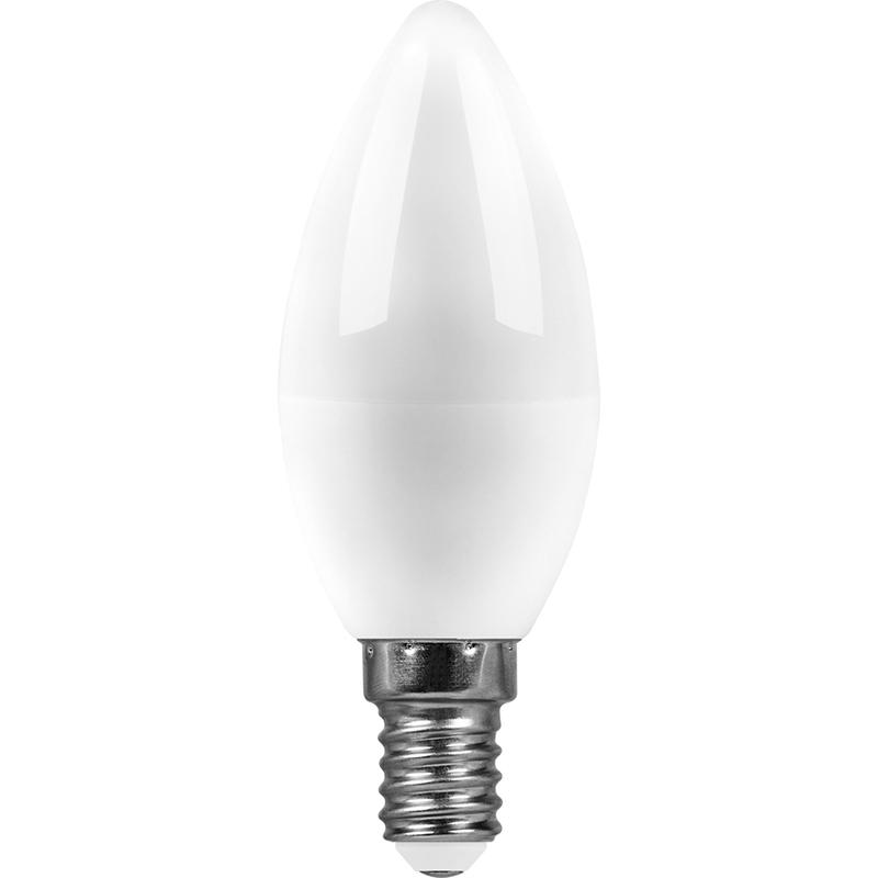 Лампочка Saffit C37 E14 9W 230V 4000K 810Lm Daylight SBC3709 55079 лампочка saffit e27 a65 25w 4000k 230v sba6525 55088