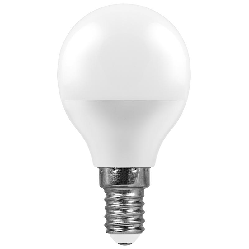 Лампочка Feron LB-550 E14 9W 230V 6400K 840Lm G45 25803