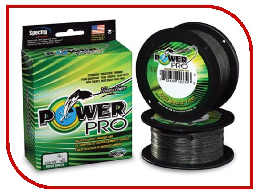 Шнур плетёный Power Pro 0.28mm 92m Moss Green PP092MGR028
