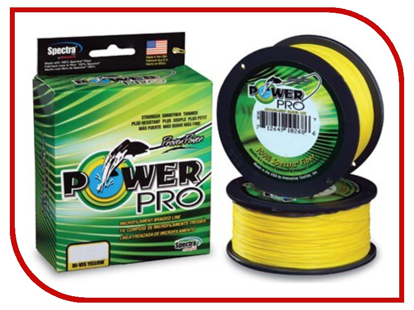 Шнур плетёный Power Pro 0.23mm 92m Hi-Vis Yellow PP092HVY023
