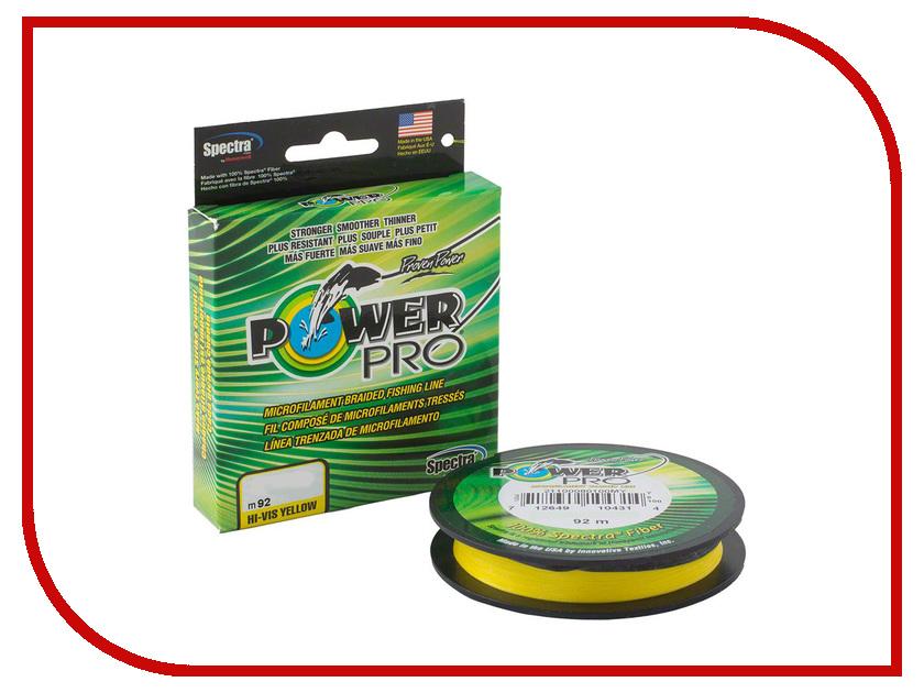 Шнур плетёный Power Pro 0.19mm 92m Hi-Vis Yellow PP092HVY019