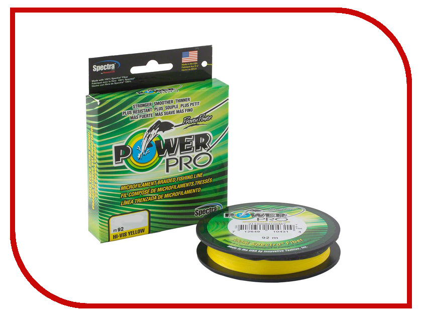 Шнур плетёный Power Pro 0.15mm 92m Hi-Vis Yellow PP092HVY015
