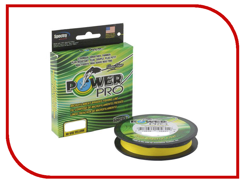 Шнур плетёный Power Pro 0.08mm 92m Hi-Vis Yellow PP092HVY008