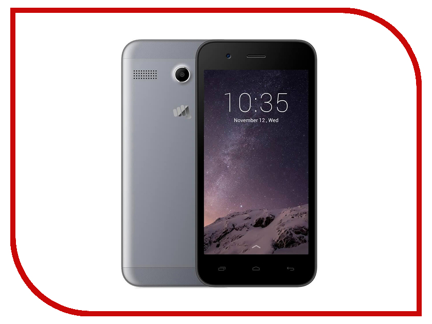 Сотовый телефон Micromax Q346 Lite Grey мобильный телефон micromax bolt q346 lite синий