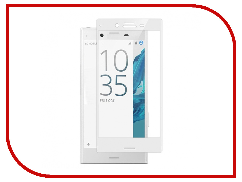 Аксессуар Защитное стекло для Sony Xperia XZ Ainy Full Screen Cover 0.33mm White аксессуар защитное стекло sony xperia xa1 luxcase 0 33mm 82170