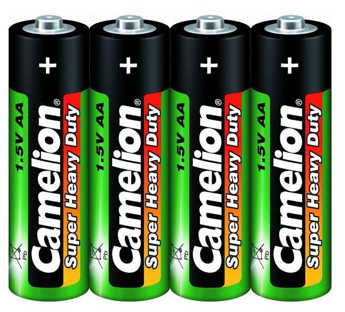 Батарейка AA - Camelion R6 R6P-BP4G (4 штуки)
