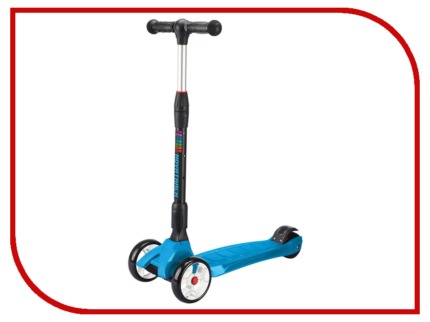 Самокат Novatrack RainBow 120 Blue 120rainbow.bl7 складной самокат novatrack rainbow 120 blue 120b rainbow bl7