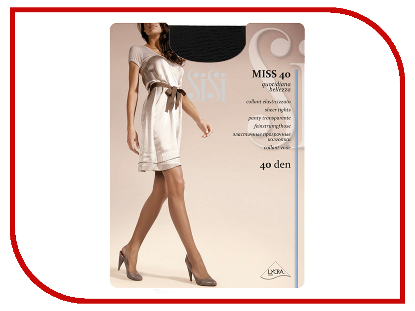 Колготки SiSi Miss размер 5 плотность 40 Den Nero гольфы sisi miss 40 new цвет nero черный 2 пары размер универсальный